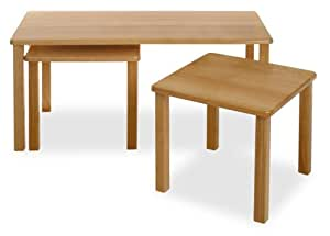 Winsome Wood 3 Piece Beechwood Coffee Table Set Natural Nesting Tables