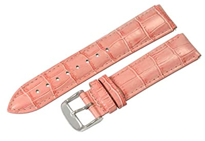 Peach Croco 20mm Watch Band Fits Philip Stein Large Size 2 (With Built in Quick Release Pins) !!!! by Clockwork Synergy, LLC