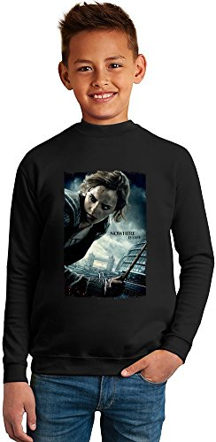 Harry potter Nowhere is save Superb Quality Boys Sweater by TRUE FANS APPAREL - 50% Cotton & 50% Polyester- Set-In Sleeves- Open End Yarn- Unisex for Boys and Girls 4-5 years