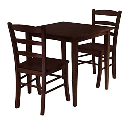 Winsome Wood 94332 Groveland 3pc Square Dining Table with 2 Chairs
