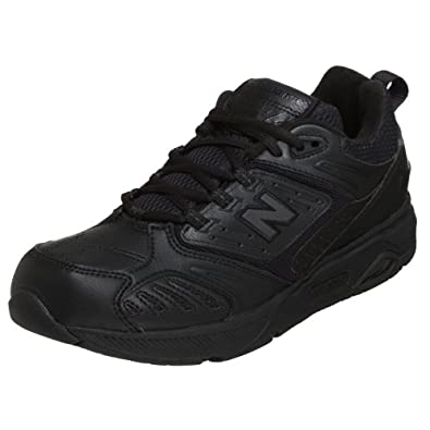New Balance Men's MW845 Walking Shoe,Black,7 EE