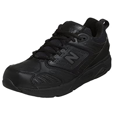 New Balance Men's MW845 Walking Shoe,Black,7 EE