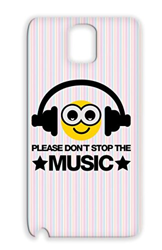 Smiley Headphones Miscellaneous Dance Bass Music Dont Stop Music Hip Hop Feel Electro Base Please Beat Mixtape Dj Retro Dubstep Deejay Breakdance The Gold Protective Case For Sumsang Galaxy Note 3 F3
