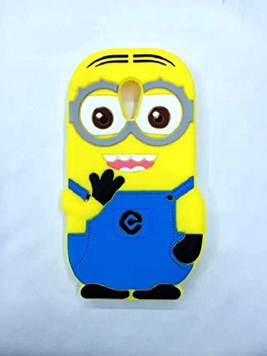 Heartly Cute Cartoon Minion Soft Rubber Silicone Flip Bumper Best Back Case Cover For Motorola Moto G2 G+1 2nd Generation XT1068 Double Eye