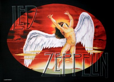 Led Zeppelin Fabric Poster Print, 40x30