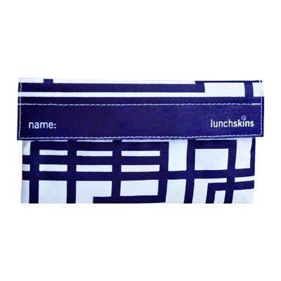 Reusable Cloth Snack Bag - Navy Blue Circuit
