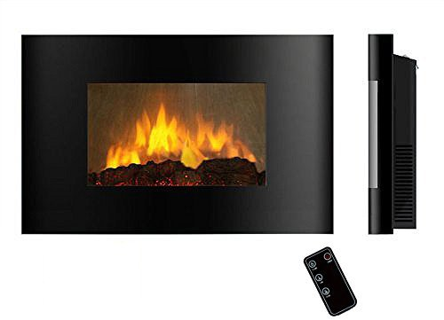 AKDY AZ520AL (Series AZ 520A) Close off Mounted Electric Fireplace Control Remote Heater Firebox Black