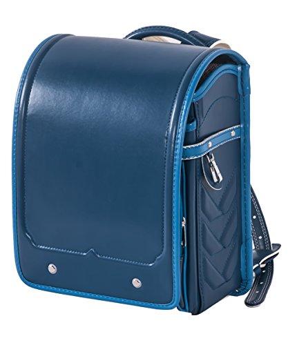 (OSJ)ランドセル A4ファイル対応  防水仕上げ schoolbag (ブルー&ライトブルー)