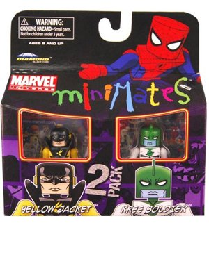 Buy Low Price Art Asylum Marvel Minimates Series 32 Mini Figure 2Pack Kree Soldier Yellowjacket (B0034KV8F4)