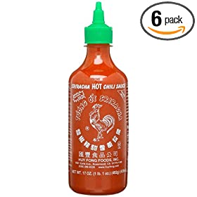 Huy Fong Sriracha Chili Sauce, 17 Ounce Bottle (Pack of 6)