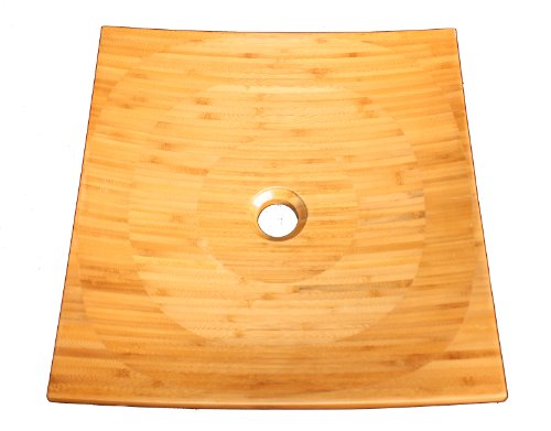 Bamboo Vessel Sink Top Mounted