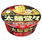 日清食品 日清太麺堂々 魚介だしコク旨しょうゆ 89g×12個入