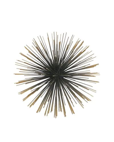 Three Hands Small Metal Table Burst Decoration, Brass