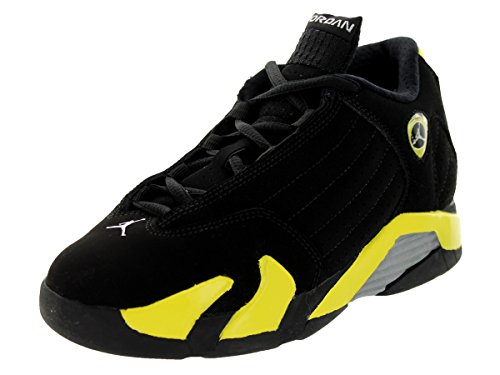 Images for Nike Jordan Kids Jordan 14 Retro BP Black/Vibrant Yellow/White Basketball Shoe 2 Kids US