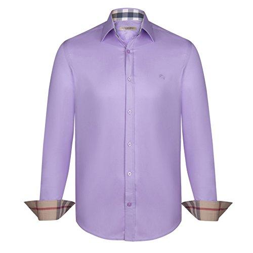 burberry-camicia-uomo-manica-lunga-colore-lilla-lilac-l