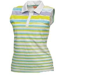 Puma Golf NA Ladies Watercolor Stripe Sleeveless Polo Tee by PUMA