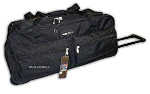 "27"" Jeep Wheeled Holdall Holiday Bag Trolley Case - PH555 Black"