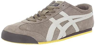 Onitsuka Tiger Mexico 66 SU Fashion Sneaker,Lead Grey/Beige,10 M US Women's/8.5 M US Men's