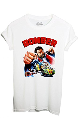 T-SHIRT BOMBER BUD SPENCER-FILM by MUSH Dress Your Style - Uomo-M-BIANCA