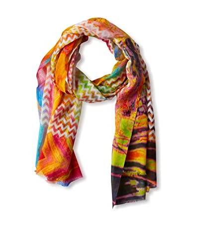 Saachi Women's Colorful Chevron Scarf, Multi