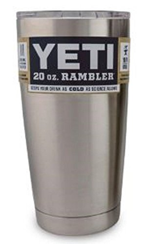 Yeti Coolers Rambler Tumbler, Silver, 20 oz. (Coffee Tumbler compare prices)