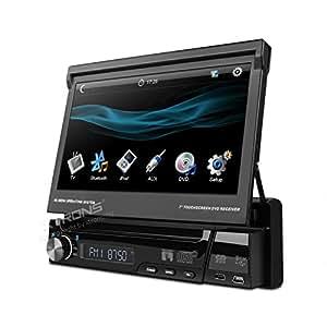 "XTRONS Single Din 7"" HD Touch Screen Car Stereo DVD Player 1 Din Bluetooth Radio Ipod CD USB SD"