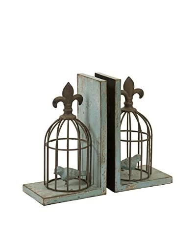 Set of 2 Birdcage Bookends