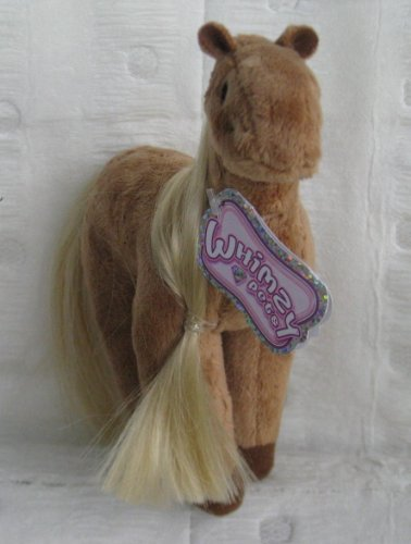 "Whimzy Pets 9"" Tall Tan Horse - Halo"