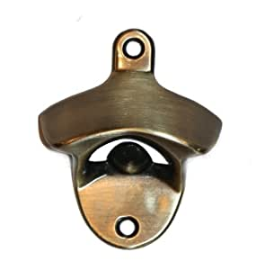wall mounted bottle opener antique brass kitchen dining. Black Bedroom Furniture Sets. Home Design Ideas