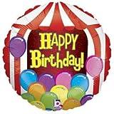 "Happy Birthday Circus Tent 18"" Mylar Balloon"