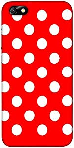Snoogg Red Polka Dot Designer Protective Back Case Cover For Huawei Honor 4X