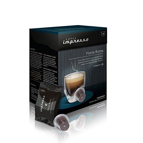 Get 100 x caff impresso nespresso compatible coffee capsules pods forza - Support capsule nespresso ...