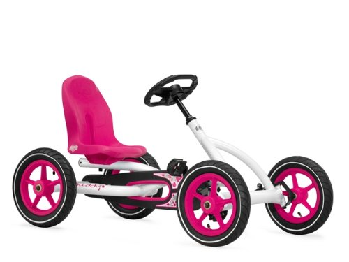 Berg USA Buddy Pedal Go Kart Kids Riding Toy - Pink & White 24.20.61