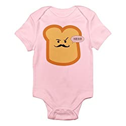 CafePress Bonjour - French Toast Infant Bodysuit - 0-3M Petal Pink