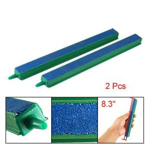 "Como 2 Pcs Fish Tank Air Bubble Airstone Bar 8"" Green Blue"