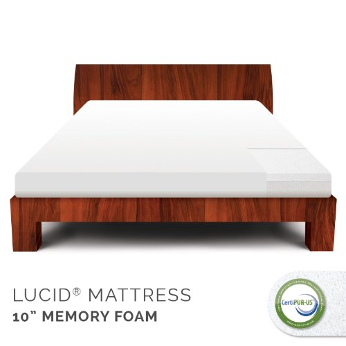 Great Deal! LUCID by LinenSpa 10 Memory Foam Firm Viscoelastic Mattress 20-Year Warranty, King