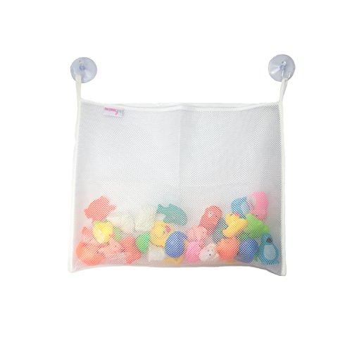 Best Toy Organizer on Amazon! Bath Tub Toy Organizer - High Quality XL Mesh Bag - Fast Drying - Powerful Large Suction Cups Believe Bath