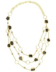 Zariin Choker Necklace For Women (Transparent Black) (NPS035STC)