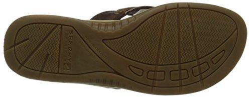 Sperry Top-Sider Women's Seafish Flip Flop, Cognac/Bronze, 9 M US
