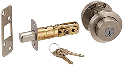 Kwikset 158 Round Single Cylinder Deadbolt featuring SmartKey® in Satin Nickel