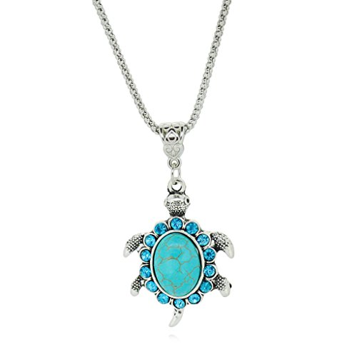 jiayiqi-women-lovely-sea-turtle-tibetan-silver-crystal-turquoise-pendant-chain-necklace