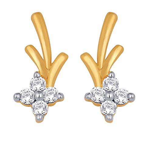 Sangini Sangini 18K Yellow Gold Stud Earrings For Women (Multicolor)