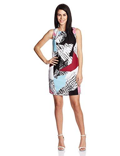 UCB Women's Skater Dress (15A4ST6V9408I901_Black, White, Blue and Pink_M)