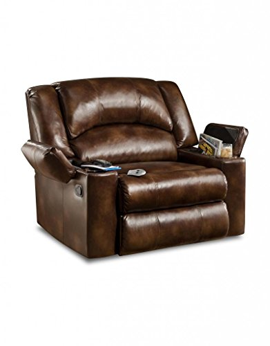 Simmons Upholstery U711-14 Vintage Bonded Leather Downtime Lounger Recliner front-297967