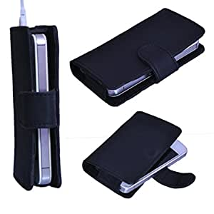 StylE ViSioN Pu Leather Pouch for Videocon Infinium Graphite