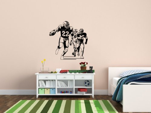 Housewares Wall Vinyl Decal Sport American Football Players Home Art Decor Kids Nursery Removable Stylish Sticker Mural Unique Design For Any Room front-1008281