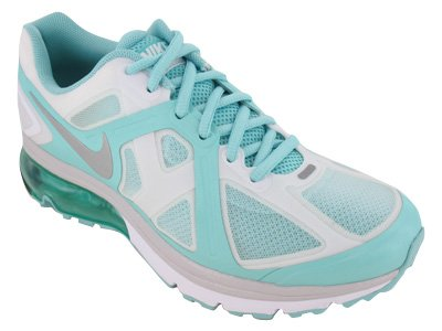 Nike Women's NIKE AIR MAX EXCELLERATE+ WMNS RUNNING SHOES 9.5 (SMMT WHT/MTLLC SLVR/TRPCL/TWIST)