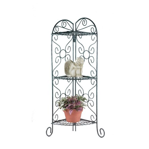 Gifts & Decor Metal Corner Plant Stand Display Shelf Unit