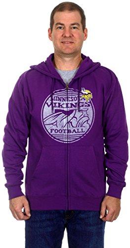 Minnesota Vikings Men's Zip-Up Fleece Hoodie (2X)