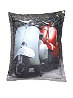 Sitting Bull Puff Grande Sb Mega Bag Vespa Gris/Blanco/Rojo